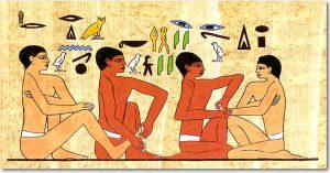 Fresque du tombeau d'Ankhmahor à Saqqara